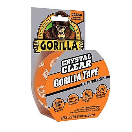 Gorilla Glue Crystal Clear Gorilla Tape, 9 yd., 6027002