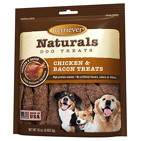 Retriever Naturals Chicken & Bacon Treats, 16 oz. Bag