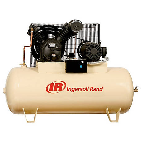 Ingersoll Rand 2545E10-V 230V-3Ph 2-Stage Air Compressor, 120 gal. Horizontal