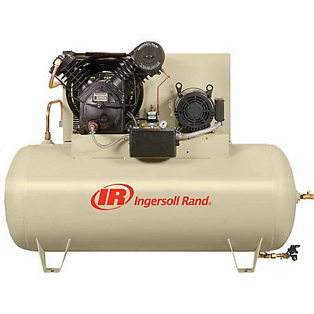Ingersoll Rand 2545E10-VP Value Plus 460V-3Ph 2-Stage Air Compressor, 120 gal. Horizontal