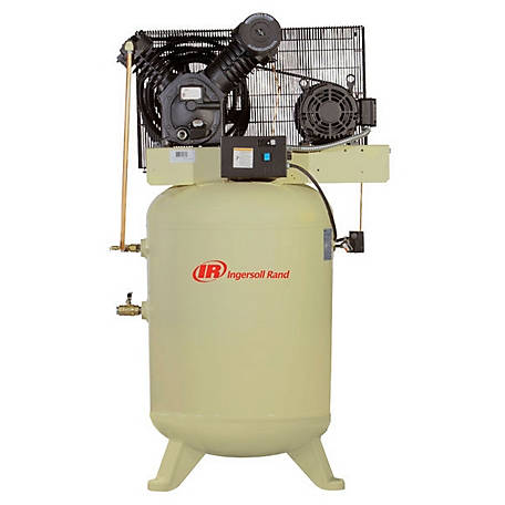 Ingersoll Rand 2545K10-V 230V-3Ph 2-Stage Air Compressor, 120 gal. Vertical