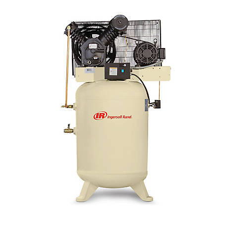 Ingersoll Rand 2545K10-V 460V-3Ph 2-Stage Air Compressor, 120 gal. Horizontal