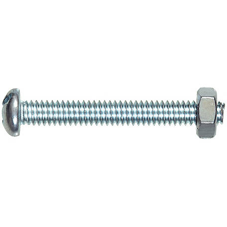 Hillman Zinc Round Combination Head Machine Screw, #8-32 x 1-1/4 in.