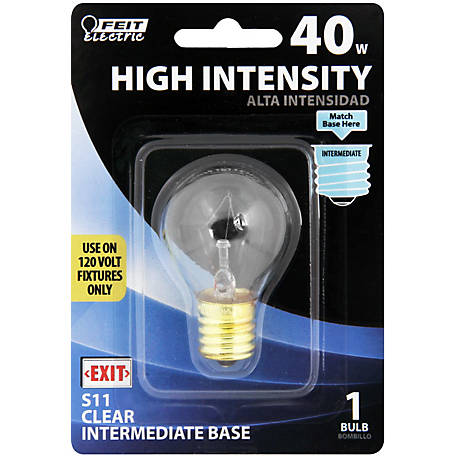 Feit Electric 40 watt Incandescent S11N Hi-Intensity Appliance Bulb, BP40S11N