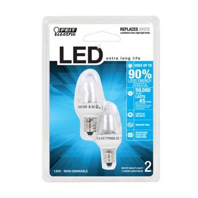 Buy Feit Electric 1 watt Accent LED Night Light Bulb; Candelabra Base; Pack of 2 Online