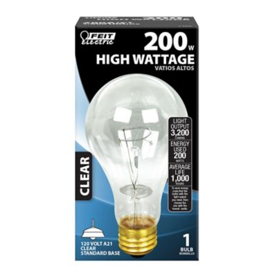 Buy Feit Electric 200 watt Clear Incandescent Bulb; A21 Online