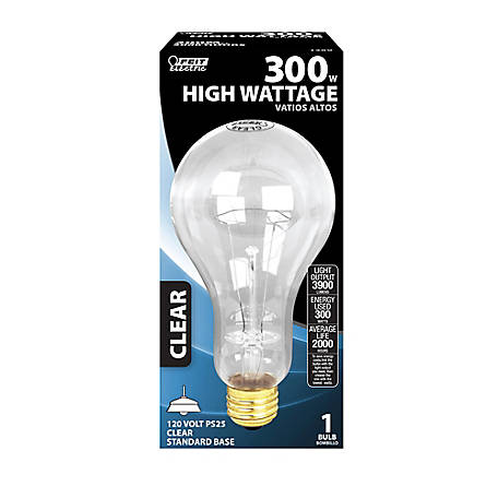 Feit Electric 300 watt Incandescent Soft White Bulb, PS25, 300M