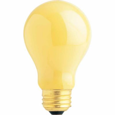 Buy Feit Electric 60 watt Incandescent A19 Yellow Bug Bulb; 130V; Pack of 2 Online