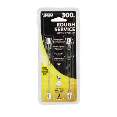 Buy Feit Electric 300 watt Halogen T3 Short Bulb; Rough Service Clear; Pack of 2 Online