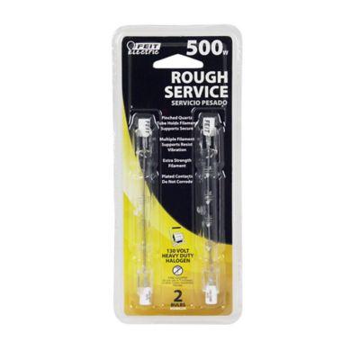 Buy Feit Electric 500 watt Halogen T3 Short Bulb; Rough Service Clear; Pack of 2 Online