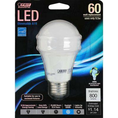 Buy Feit Electric 9-3/4 watt LED General Purpose 60 watt Equivalent Natural Daylight Dimmable Bulb Online