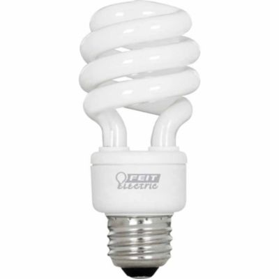 Buy Feit Electric 13 watt CFL Mini Twist Bulb; 60 watt Equivalent Daylight Color; Pack of 4 Online