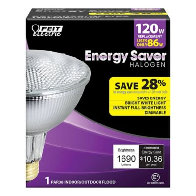 Buy Feit Electric 86 watt Soft White Energy Saving Halogen PAR38 Reflector; 120 watt Equivalent Online