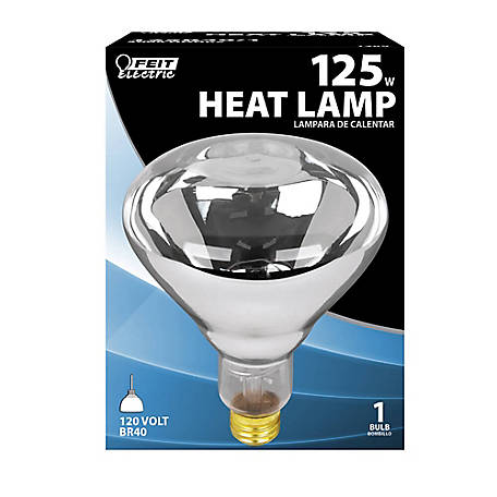 Feit Electric 125 watt Incandescent R40 Clear Heat Lamp Reflector, 125R40/1