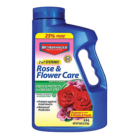 BioAdvanced 2-in-1 Systemic Rose & Flower Care, 5 lb.