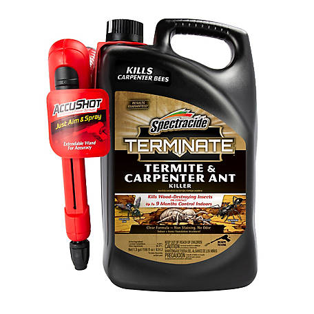 Spectracide Terminate Termite & Carpenter Ant Killer, AccuShot Sprayer, 1.33 gal., HG-96375