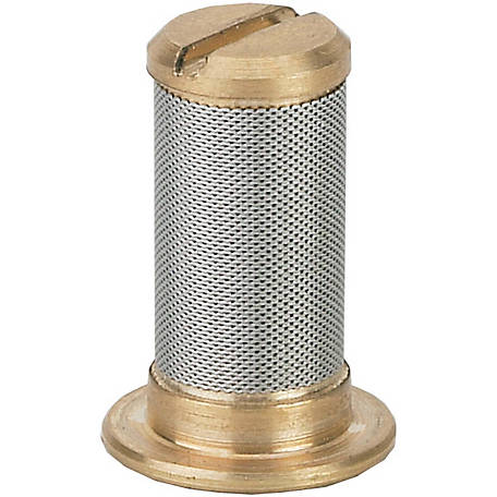 CountyLine Brass Tip Strainer With Check Valve, Pack of 4