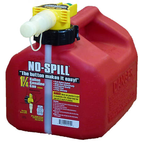 NO-SPILL Gas Can, 1.25 gal., 1415