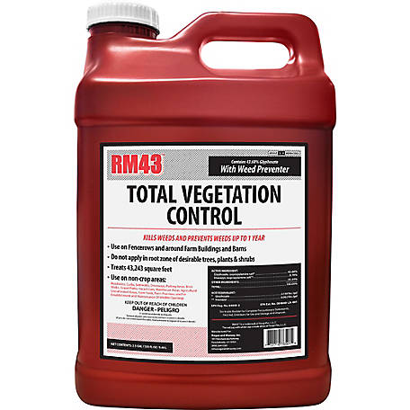 RM43 Total Vegetation Control, Weed Preventer Concentrate, Glyphosate + Imazapyr, 2.5 gal., 76501