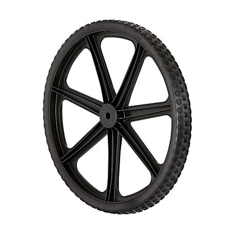 Rubbermaid Replacement 20 In Wheel For 7 5 Cu Ft Cart At Tractor Supply Co