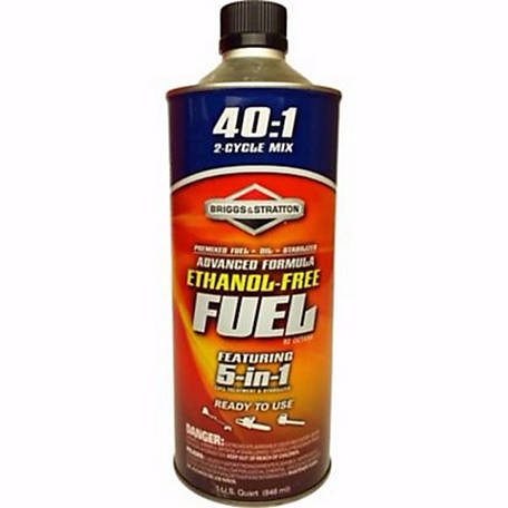 Briggs & Stratton Advanced Formula Ethanol-Free Fuel, 40:1 Mix, 100150Q