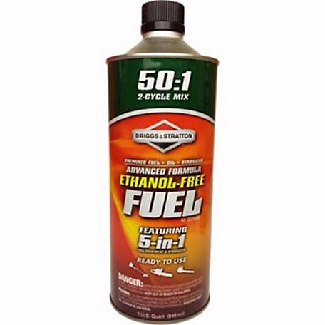 Briggs & Stratton Advanced Formula Ethanol-Free Fuel, 50:1 Mix, 100151Q