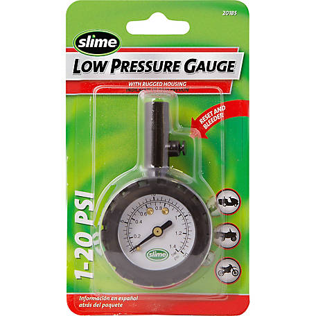 Slime Low Pressure Tire Gauge, 1 to 20 PSI