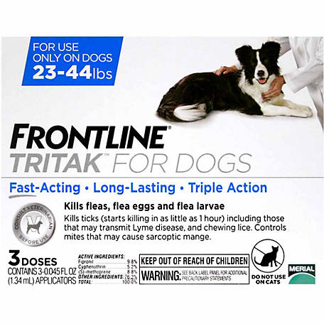 Frontline Tritak for Dogs 23-44 lb., 3 Month Supply