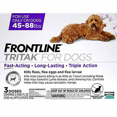 Frontline Tritak for Dogs 45 to 88 lb., 3 Month Supply