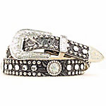 Blazin Roxx Ladies Black Bling Belt
