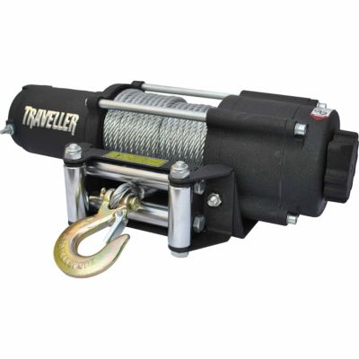 1078311?$470$ traveller 12v utv electric winch, 4,500 lb capacity at tractor