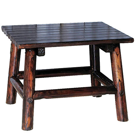 Leigh Country Char-log End Table