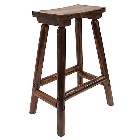 Leigh Country Char-log Saddle Stool