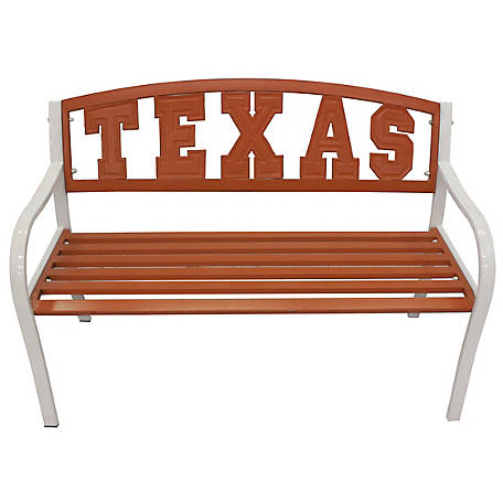 Leigh Country Texas Longhorns Collegiate Metal Bench
