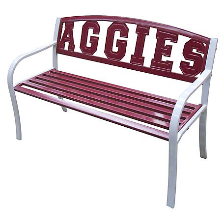 Leigh Country Texas A&M AGGIE Collegiate Metal Bench