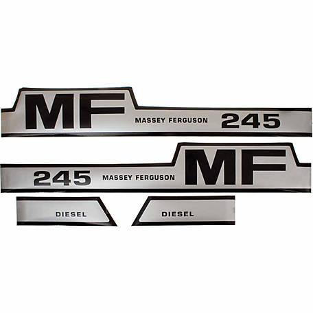 Tisco Hood Decal Set, D-MF245H