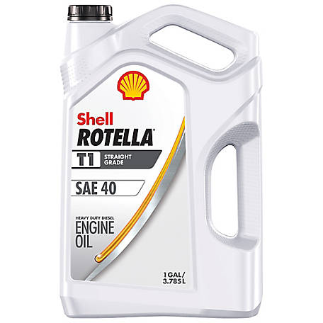 Shell ROTELLA T1 SAE 40 Motor Oil, 1 gal.