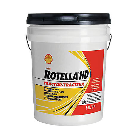 Shell Rotella HD Tractor Transmission & Hydraulic Fluid, 5 gal. Pail