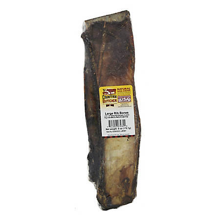 Jones Natural Chews Co. Rib Bone, 10-12 in., Pack of 2