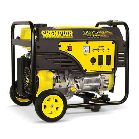 Champion Power Equipment 5500-Watt Portable Generator with Wheel Kit, 100340
