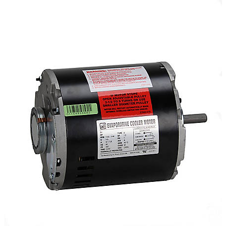 Dial Manufacturing, Inc. 3/4 HP 2 Speed Evaporative Cooler Motor, 115V