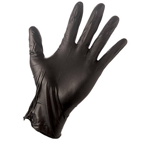Grease Monkey Disposable Gloves, Black Nitrile, Pack of 10