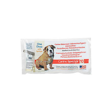 Canine Spectra 10, 1 Dose with Syringe at Tractor Supply Co
