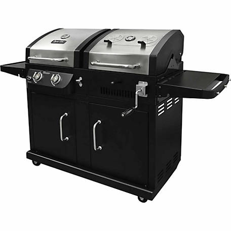 dyna glo dual fuel gas and charcoal grill at tractor supply co