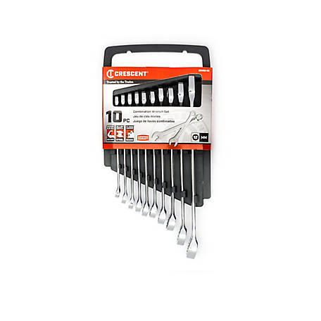 Crescent 10 Piece Crescent Wrench Set, MM