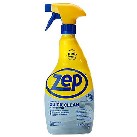 Zep Commercial Quick Clean Disinfectant, 32 oz., ZUQCD324