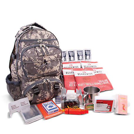 Wise Company 5 Day Emergency Survival Camo Backpack for One Person