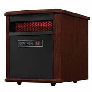 Duraflame Portable Electric Infrared Quartz Heater, Walnut Brown