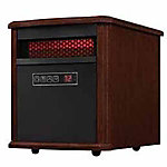 RedStone Portable Electric Infrared Quartz Heater, Walnut Brown