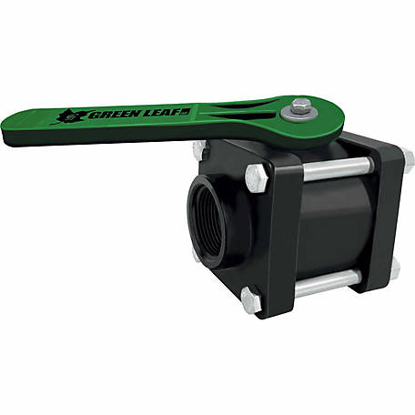 Green Leaf 4 Bolt Valve, 1-1/4 In. Full Port Ball Valve